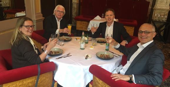 Lunch met 3 interimmers die bij 1 opdrachtgever werken